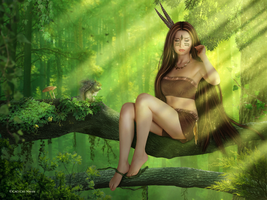 Forest Girl. by CaoChiNhan