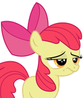 Applebloom is not impressed by Candy-Muffin