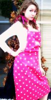 Dotty apron by xoxdaisychainxox