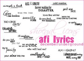 AFI Lyrics-decemberunderground by kissncontrol