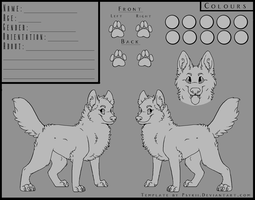 Canine Reference Template. by psykii