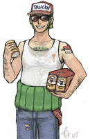Trucker Zoro by emlan