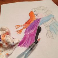The making of : Anna and Elsa -Disney's Frozen sis by themagicofpotter
