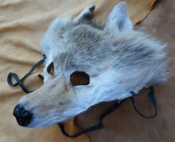 White wolf fur mask 3 by lupagreenwolf