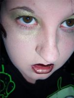 Gold Eyes and Curls Stock1 by DistortedDoll-Stock