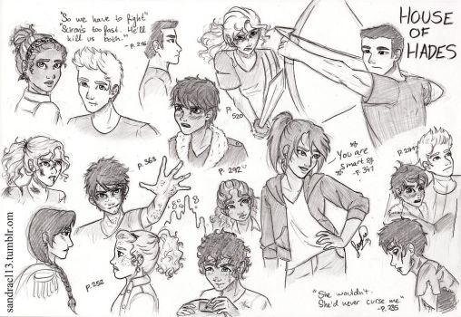(SPOILERS) House of Hades sketches by Sandra-13