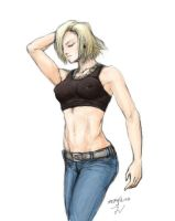 Android 18 by megaluka