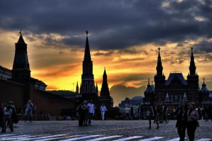 Sunset on Red Square by Lyutik966