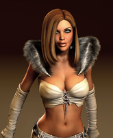 EMMA FROST: Eyes up here!! by Furbs3D