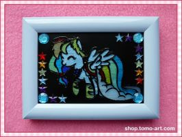 Gala Rainbow Dash - stained-glass window by facja