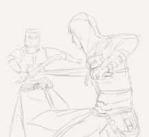 Altiar fighting templar Sketch by Uccan