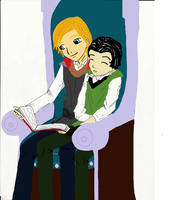 Thor and Loki in the Library by FeZeTh13Crazy