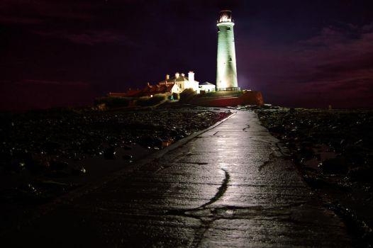 St Mary's Lighthouse HDR by perfect12386