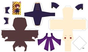 Hetalia Papercraft 2p! Japan by SumatraDjVero