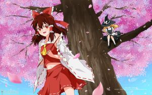 Sakura Shrine ~ Touhou Project ~ by Sakon04