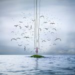 Her free dreams, tangled in the cold breeze. by MahmoudElkourd