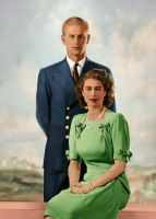 Princess Elizabeth and Philip Mountbatten by RMS-OLYMPIC