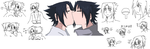 Sasuke and SasuSasu MSPaint doodles by Uchiha00006