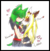 30DDC - Day 5 - Kissing~ by Little-drawing-Girl