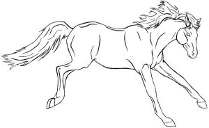 Free horse lineart by GregoryTheGuitar