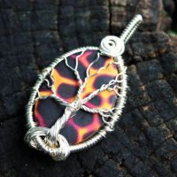 Polymer Clay Wire Wrap Tree of Life Pendant by Create-A-Pendant