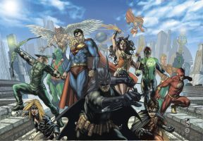 JLA UPPERDECK  color by simonebianchi