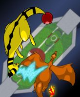 Ampharos Used Thunderbolt by golden-3point14