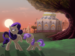 Rarity and Sweetie Belle by DimFann