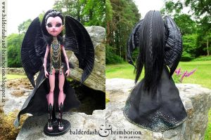 Dragon OOAK Monster High doll customization by jen-jamieson