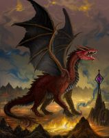 The Fallen Dragon by AlanGutierrezArt