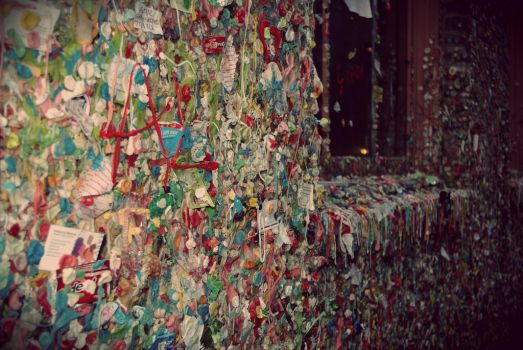 The gum wall by XSomethingWickedX