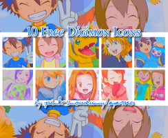 10 Free Digimon Icons by Pink-Snowbunny