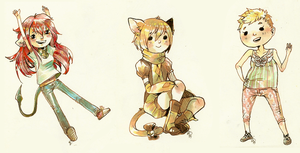 traditional copic chibis by alpacasovereign