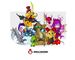 Neopets Characters Comission by adhytcadelic