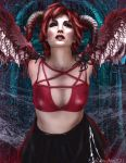 Bad Girl With Red Hair by Lolita-Artz