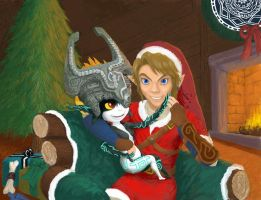 Midna x Link Christmas by Ruthac-Arus