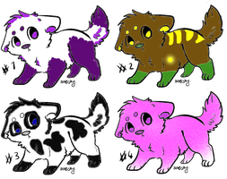 Adoptables Puppies 3 by Shadowwolf66667