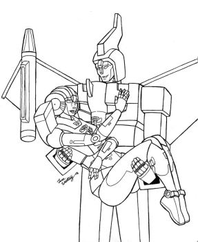 Swoop and Arcee by Wrecker-lady