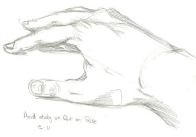 Hand Study on Table by sanora