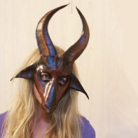 Antelope Leather Mask or maybe a Goat by teonova