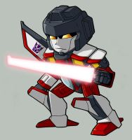 Chibi Starscream by NebulousFrog
