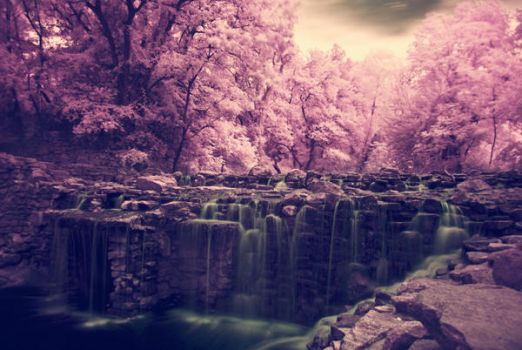 Infrared 30 - Waterfall by AlpineDrive86