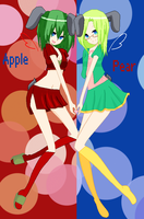 Apple and Pear by berrybluearia