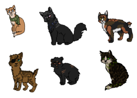 Mystery Adoptable Cats-Full Pack by Black-pond-adopts
