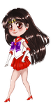 Chibi Sailor Mars by Leeeliaaa