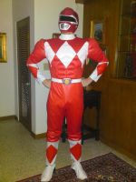 Red power ranger by albinoblackdude9