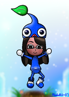 Nintendo Land-Pikmin Adventure-Mari Blue Pikmin by Misskatt66
