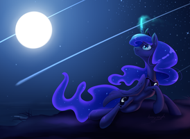 Lunas Light Show (detail) by bronyseph