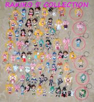 76 Sailor Moon keychains by RakikoHime