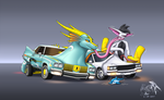 [CM] Two different Car Dragons by Sabre471